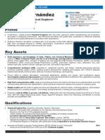 Douglas Hernandez - Chemical Engineer (résumé)