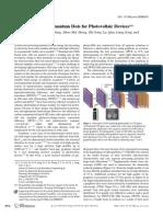 Quantum Dots for Photovoltaic