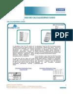 Catalogo Calculadoras Graficadoras Casio