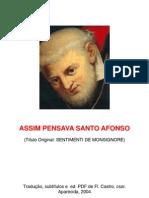 Assim Pensava Santo Afonso