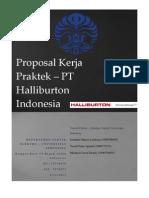 Proposal KERJA PRAKTEK - PT. Halliburton Indonesia - Universitas Indonesia