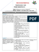 ESQUEMA TECNIFICACION - 2013 -1º sem. 5º
