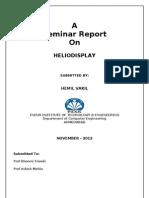 Heliodisplay Full Report