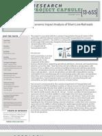 ltrc project capsule_13_6ss economic impact analysis of short line railroads