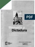 MEMORIA Y DICTADURA -1ªParte