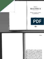 Malthus Robert - Primer Ensayo Sobre La Poblacion.PDF