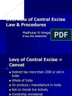Overview of Central Excise Law and Procedures