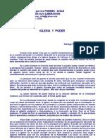 Cuadernos Opcion Por Los Pobres-chile Tl Iglesia y Poder. j.comblin