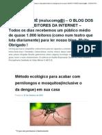 Como Acabar Com Os Mosquitos