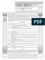 Rosicrucian Declaration of Human Duties[1]