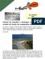 Litoral da Paraíba é destaque no UOL e em revista de bordo de companhia aérea