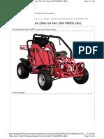 Baja Parts Catalog DN250 Go Kart VIN Prefix LBX