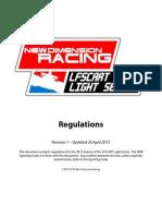 LFSCART Light Series 2013 Rules Book