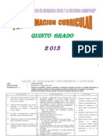 PROGRAMACIÓN CURRICULAR- 2013