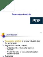 Regression Analysis One 18-05-2011