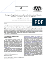 Bulgaria Political Risk Mediation MNCs