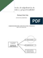 Metodos de adjudicación de escaños y proporcionalidad