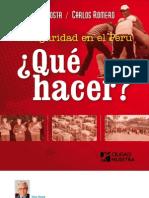 Ciudad Nuestra Inseguridad en El Peru Que Hacer