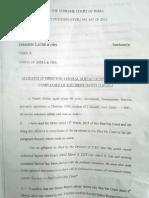 CBI Director Ranjit Sinha's Affidavit in SC on CoalGate
