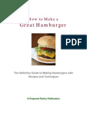 Great Hamburger How To Make A Chutney Hamburgers