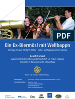 Konzert Well Plakat 020413