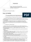 Curs Diagnosticare