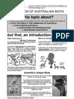 KISS Notes Evolution of Australian Biota