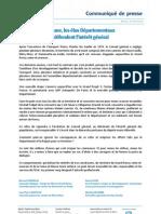 CP - les élus Départementaux du Grand Roissy défendent l'interêt général