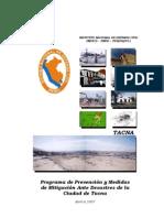 Programas de Prevencion y Medidas de Mitigacion Ante Desastres de La Ciudad de Tacna