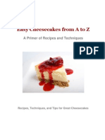Easy Cheesecakes From a to Z