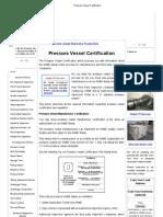 Pressure Vessel Certification