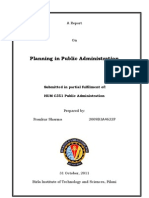 Planning in Public Administration-Prankur Sharma
