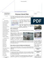 Pressure Vessel Plate
