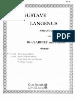 Meister, Georges - Erwinn, Fantasia for Clarinet - Piano Score