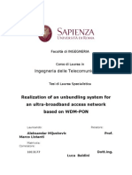 Realization of an Unbundling System for an Ultra-broadband Access Network Based on WDM-PON