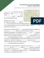 Worksheet–Session 3 April 19,2013
