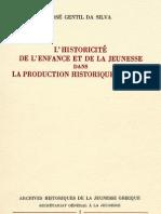 L'HISTORICITE DE L'ENFANCE ET DE LA JEUNESSE DANS LA PRODUCTION HISTORIQUE RECENTE-JOSE GENTIL DA SILVA.pdf