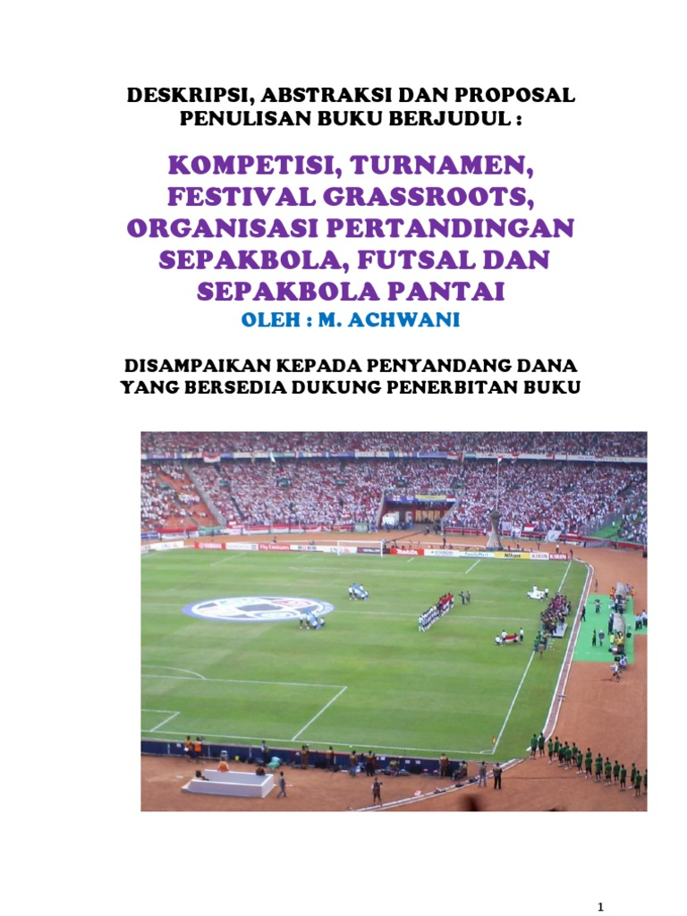 Proposal Turnamen Futsal Pdf Free