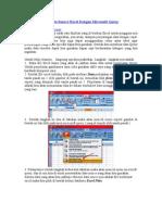 Cara Membuat Data Source Excel Dengan Microsoft Query
