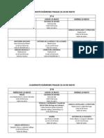 CUADRANTE EXÁMENES FINALES 2012-13