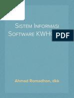 Sistem Informasi Software KWHOTEL