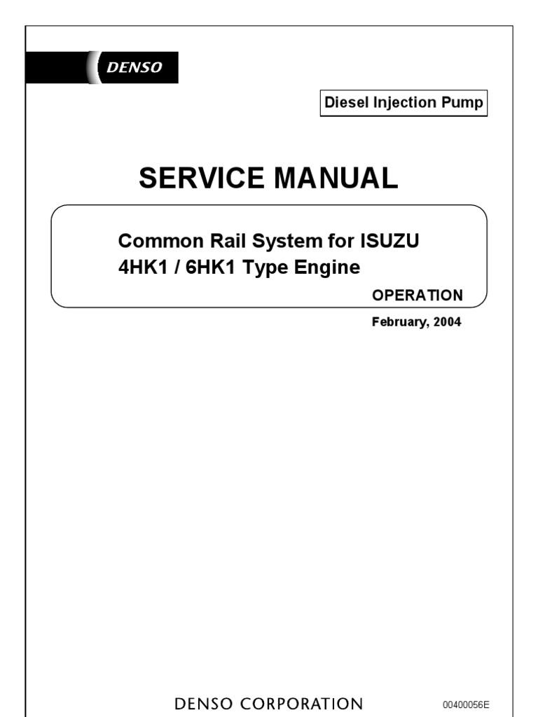 Service Manual Common Rail System Isuzu 4HK1 6HK1 | Fuel