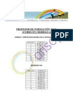 Corrector Modelo A Curso XV - Primera evaluación - Profesor de formación vial