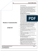 Lecture Notes Business Communication Unit IV BBA
