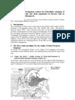 Alinei Mario - Paleolithic Continuity of Indo-Europeans in Europe