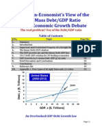 An MIT Non-Economist's View of the Harvard-UMass Debt/GDP Ratio and the Economic Growth Debate