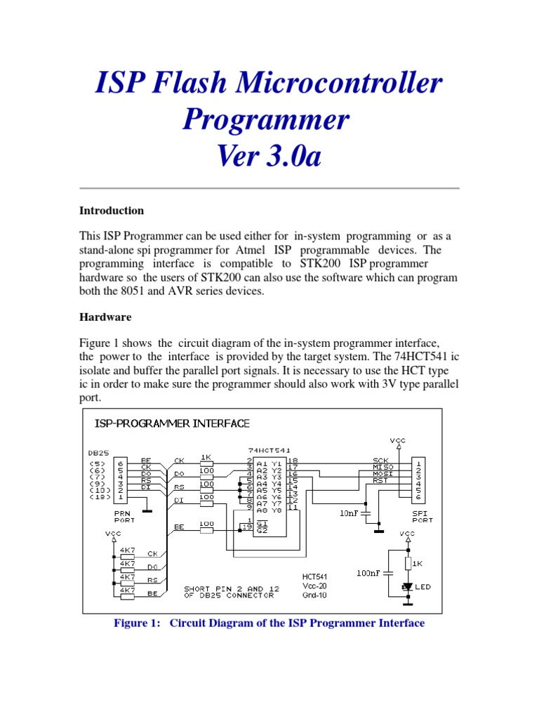 Isp Flash Microcontroller Programme8051 Programmerr Electrical 8051 Programmer Circuit Connector Computer Data