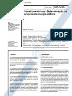 Nbr 12089 Mb 3426 - Chuveiros Eletricos - Determinacao Do Consumo de Energia Eletrica