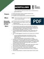Backfilling Manual