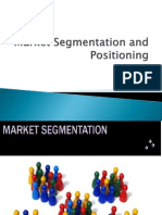 Market Segmentation and Positioningl